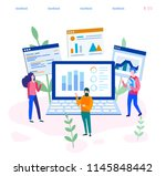 concept digital marketing ... | Shutterstock .eps vector #1145848442