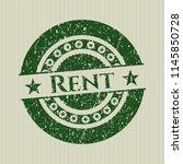green rent distress rubber... | Shutterstock .eps vector #1145850728