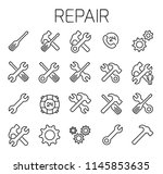 repair related vector icon set. ...