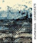 abstract grunge vector... | Shutterstock .eps vector #1145855375