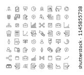 set of premium business icons... | Shutterstock .eps vector #1145855738