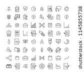 set of premium business icons... | Shutterstock .eps vector #1145855738