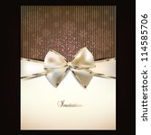 greeting card with white bow... | Shutterstock .eps vector #114585706