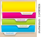 colorful bookmarks and banners... | Shutterstock .eps vector #114585826