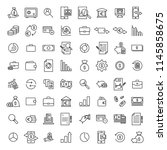 set of banking thin line icons. ... | Shutterstock .eps vector #1145858675