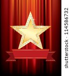 vector golden star with blank...   Shutterstock .eps vector #114586732