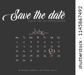 save the date wedding... | Shutterstock .eps vector #1145867492