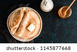 stack of traditional russian... | Shutterstock . vector #1145877668