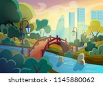 bright vector image of summer... | Shutterstock .eps vector #1145880062