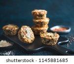 buckwheat casserole with... | Shutterstock . vector #1145881685