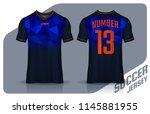 t shirt sport design template ... | Shutterstock .eps vector #1145881955