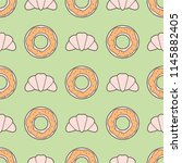 seamless pattern with line... | Shutterstock .eps vector #1145882405