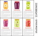 preserved fruit and vegetables... | Shutterstock .eps vector #1145883602