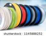 color plastic pla and abs... | Shutterstock . vector #1145888252