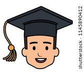head student graduation with... | Shutterstock .eps vector #1145890412