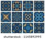 vector tiles patterns. seamless ... | Shutterstock .eps vector #1145892995