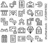 set of 25 icons such as money ...