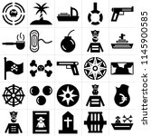 set of 25 icons such as boat ...
