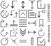 set of 25 icons such as checked ... | Shutterstock .eps vector #1145901482