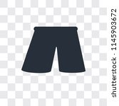 shorts vector icon isolated on... | Shutterstock .eps vector #1145903672