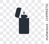 lighter vector icon isolated on ... | Shutterstock .eps vector #1145903732