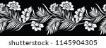 seamless black and white floral ... | Shutterstock .eps vector #1145904305