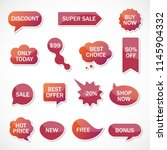 vector stickers  price tag ... | Shutterstock .eps vector #1145904332