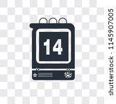 daily calendar day 14 vector... | Shutterstock .eps vector #1145907005