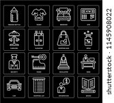 set of 16 icons such as books ...