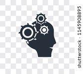 brain in bald male head vector... | Shutterstock .eps vector #1145908895