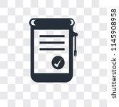 positive verified vector icon... | Shutterstock .eps vector #1145908958