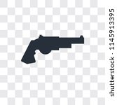 revolver vector icon isolated... | Shutterstock .eps vector #1145913395