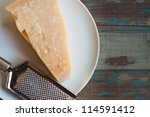 traditional parmesan cheese on... | Shutterstock . vector #114591412