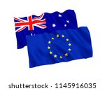 national fabric flags of... | Shutterstock . vector #1145916035
