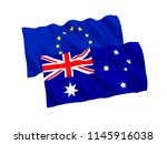 national fabric flags of... | Shutterstock . vector #1145916038