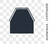 barn vector icon isolated on... | Shutterstock .eps vector #1145916428