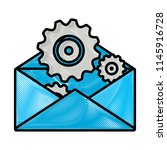 envelope and gears design | Shutterstock .eps vector #1145916728