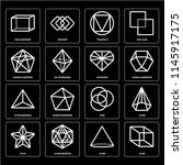 set of 16 icons such as cube ... | Shutterstock .eps vector #1145917175