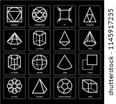 set of 16 icons such as cube ... | Shutterstock .eps vector #1145917235