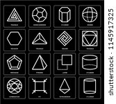 set of 16 icons such as... | Shutterstock .eps vector #1145917325