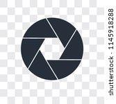 shutter vector icon isolated on ... | Shutterstock .eps vector #1145918288
