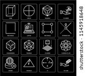set of 16 icons such as 3d cube ...
