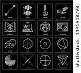 set of 16 icons such as... | Shutterstock .eps vector #1145918798