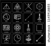set of 16 icons such as segment ...