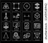 set of 16 icons such as... | Shutterstock .eps vector #1145918942
