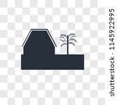 barn vector icon isolated on... | Shutterstock .eps vector #1145922995