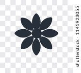 flowers vector icon isolated on ... | Shutterstock .eps vector #1145923055
