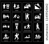 set of 16 icons such as kids ...