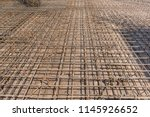metal construction of rods for... | Shutterstock . vector #1145926652