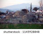 ancient ruined hammam  turkish... | Shutterstock . vector #1145928848